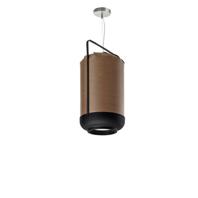 Chou 1-Light Pendant Bulb Type: E26 Base, Finish: Chocolate, Size: Small