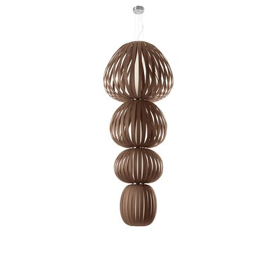 Totem 4-Light Shaded Chandelier Finish: Chocolate, Ballast: Multivolt