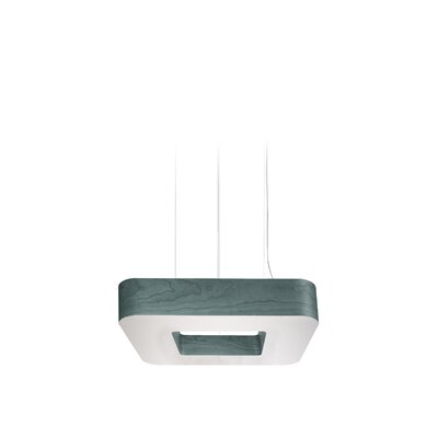 Cuad 8 LED Integrated Bulb Pendant Shade Color: Turquoise
