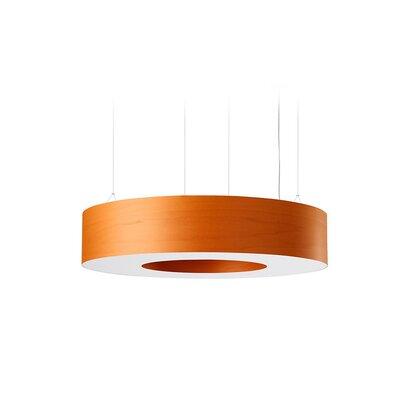 Saturnia 9 LED Integrated Bulb Drum Pendant Shade Color: Orange