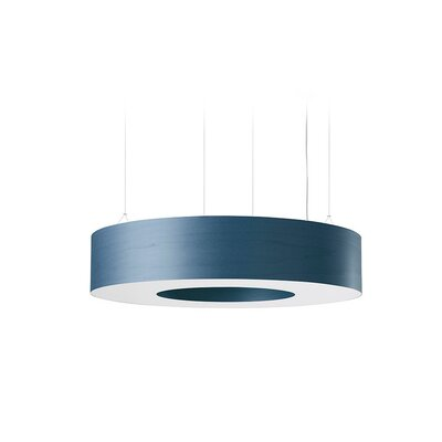 Saturnia 9 LED Integrated Bulb Drum Pendant Shade Color: Blue