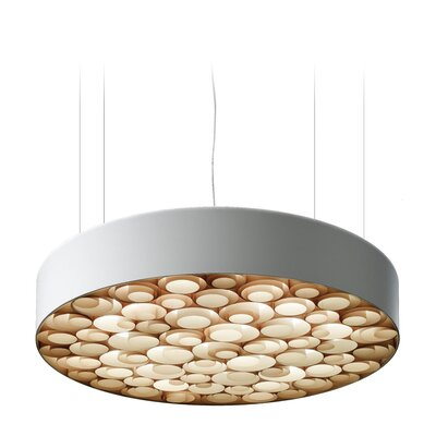Spiro 9-Light LED Drum Pendant Shade Color: Natural Beech