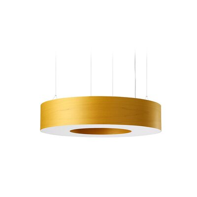 Saturnia 9 LED Integrated Bulb Drum Pendant Shade Color: Yellow