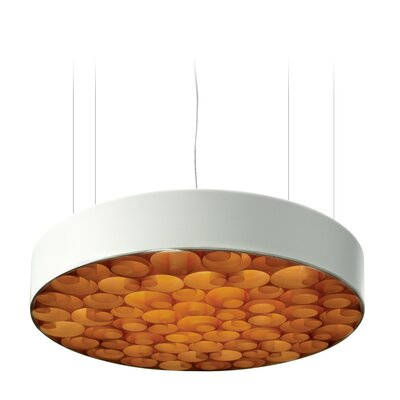Spiro 9-Light LED Drum Pendant Shade Color: Orange