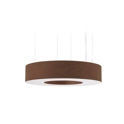 Saturnia 9-Light LED Drum Pendant Shade Color: Chocolate