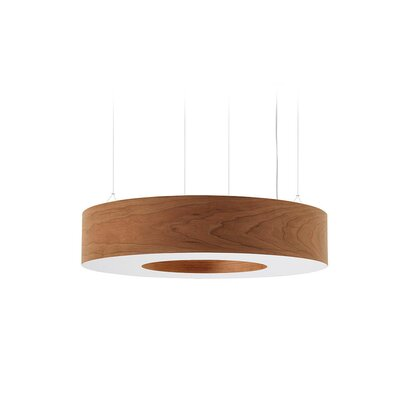 Saturnia 9-Light LED Drum Pendant Shade Color: Natural Cherry