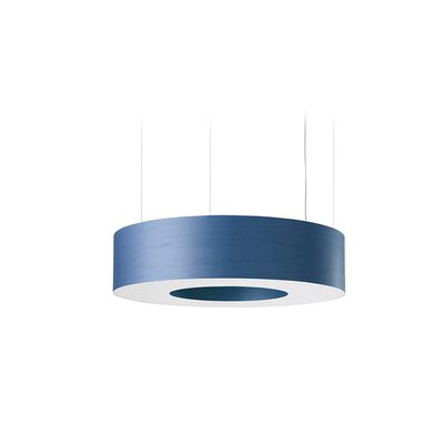 Saturnia 6-Light LED Drum Pendant Shade Color: Blue