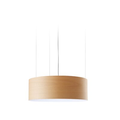 G-Club 4 LED Integrated Bulb Drum Pendant Shade Color: Natural Beech
