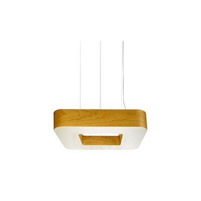 Cuad 8 LED Integrated Bulb Pendant Shade Color: Yellow