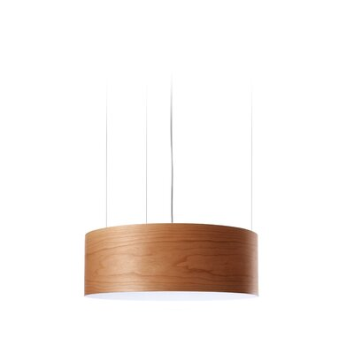 G-Club 4 LED Integrated Bulb Drum Pendant Shade Color: Natural Cherry