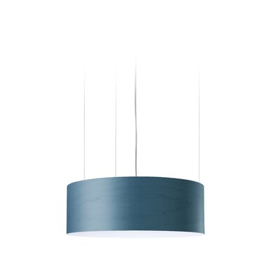 G-Club 4 LED Integrated Bulb Drum Pendant Shade Color: Blue