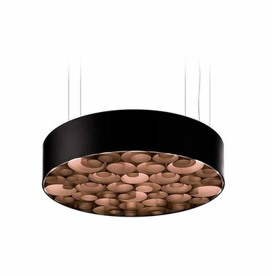 Spiro 10 LED Integrated Bulb Drum Pendant Shade Color: Chocolate