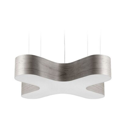 X-Club 4 LED Integrated Bulb Pendant Shade Color: Grey