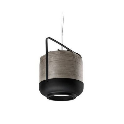 Chou 1-Light Inverted Pendant Size: 10.6 H x 8.4 W x 8.4 D, Bulb Type: GU24