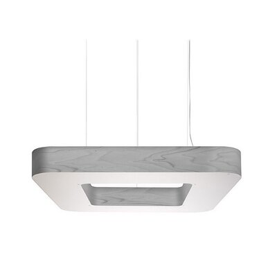 Cuad 12 LED Integrated Bulb Pendant Shade Color: Grey