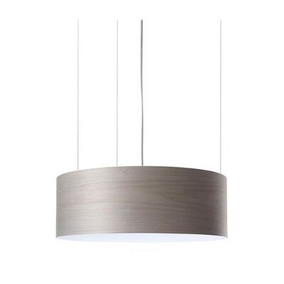 G-Club 4 LED Integrated Bulb Drum Pendant Shade Color: Grey