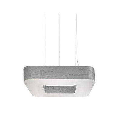 Cuad 8 LED Integrated Bulb Pendant Shade Color: Grey