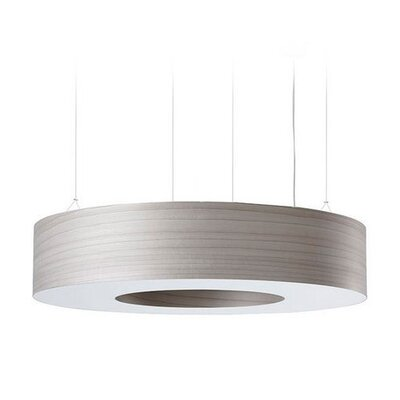 Saturnia 9-Light LED Drum Pendant Shade Color: Grey