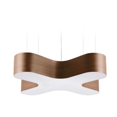 X-Club 4 LED Integrated Bulb Pendant Shade Color: Chocolate