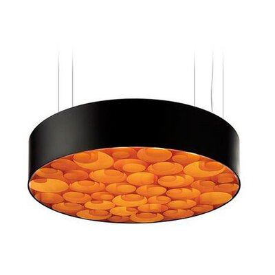 Spiro 10 LED Integrated Bulb Drum Pendant Shade Color: Orange