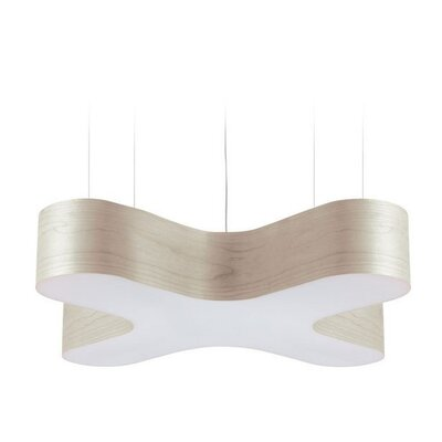 X-Club 4-Light LED Geometric Pendant Shade Color: Ivory White