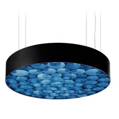 Spiro 9-Light LED Drum Pendant Shade Color: Blue