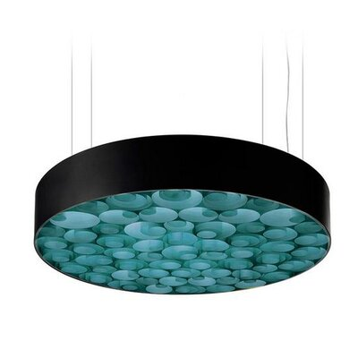 Spiro 9-Light LED Drum Pendant Shade Color: Turquoise