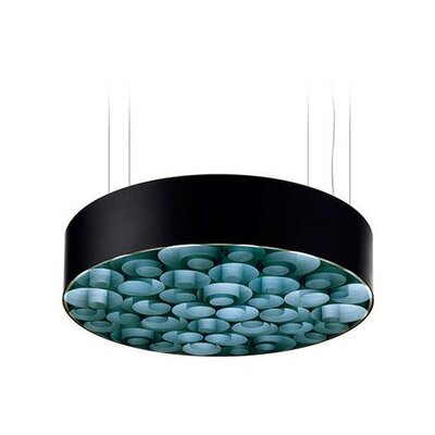 Spiro 10-Light LED Drum Pendant Shade Color: Turquoise