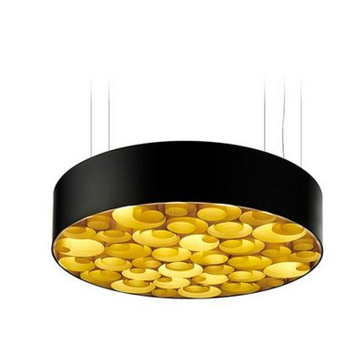 Spiro 10 LED Integrated Bulb Drum Pendant Shade Color: Yellow