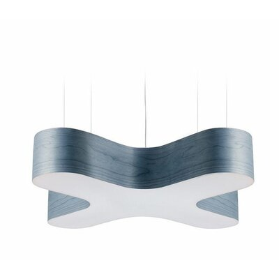 X-Club 4 LED Integrated Bulb Pendant Shade Color: Blue