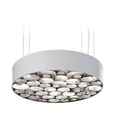 Spiro 10-Light LED Drum Pendant Shade Color: Grey