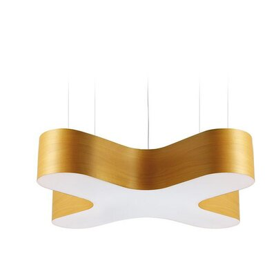 X-Club 4-Light LED Geometric Pendant Shade Color: Yellow