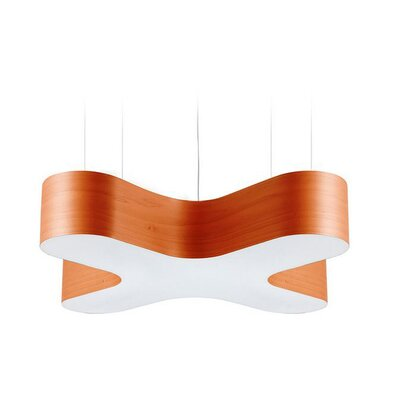 X-Club 4-Light LED Geometric Pendant Shade Color: Orange