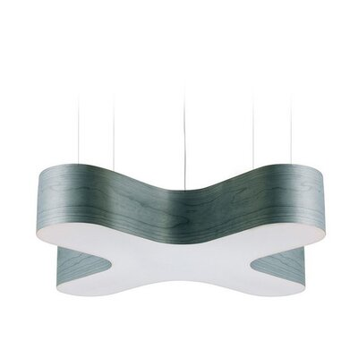 X-Club 4-Light LED Geometric Pendant Shade Color: Turquoise