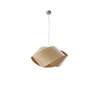 Nut 1-Light Geometric Pendant Shade Color: Natural Beech, Bulb: E26