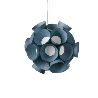 Dandelion Globe Pendant Shade Color: Blue