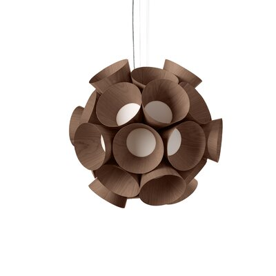 Dandelion LED Globe Pendant Shade Color: Chocolate