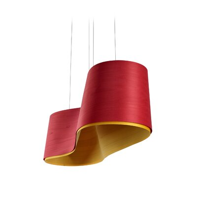 New Wave Kitchen Island Pendant Finish: Red