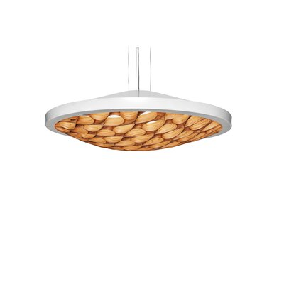 Cervantes 30-Light Pendant Shade Color: Natural Cherry, Base Finish: Matte White