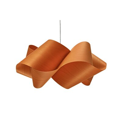 Swirl 1-Light Pendant Shade Color: Orange, Finish: Brushed Nickel, Bulb Type: GU24