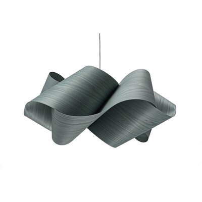 Swirl 1-Light Pendant Shade Color: Red, Finish: Brushed Nickel
