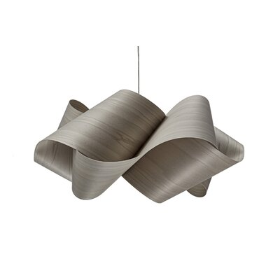 Swirl 1-Light Geometric Pendant Finish: Brushed Nickel, Shade Color: Gray, Bulb Type: GU24