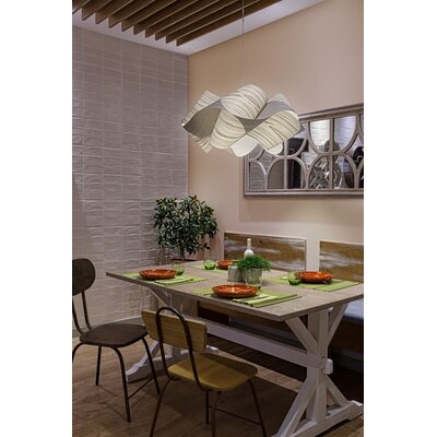 Swirl 1-Light Pendant Shade Color: Gray, Finish: Brushed Nickel