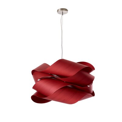 Link 1-Light Pendant Finish: Red
