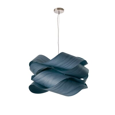 Link 1-Light Geometric Pendant Shade Color: Blue, Size: 9.4 H x 16.5 W x 16.5 D, Bulb Type: E26