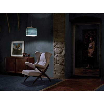 Icon 1-Light Drum Pendant Shade Color: Turquoise, Bulb Type: E26