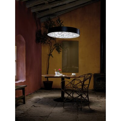 Spiro 9-Light LED Drum Pendant Shade Color: Grey