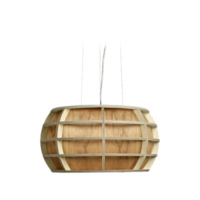 Kim 1-Light Globe Pendant Shade Color: Natural Cherry