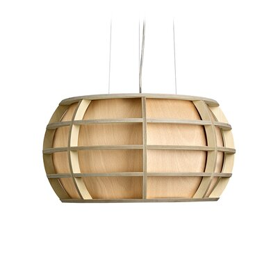 Briganti 1-Light Oval Shade Globe Pendant Shade Color: Natural Beech