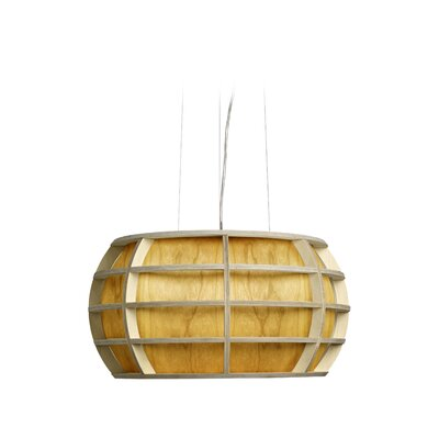 Briganti 1-Light Oval Shade Globe Pendant Shade Color: Yellow